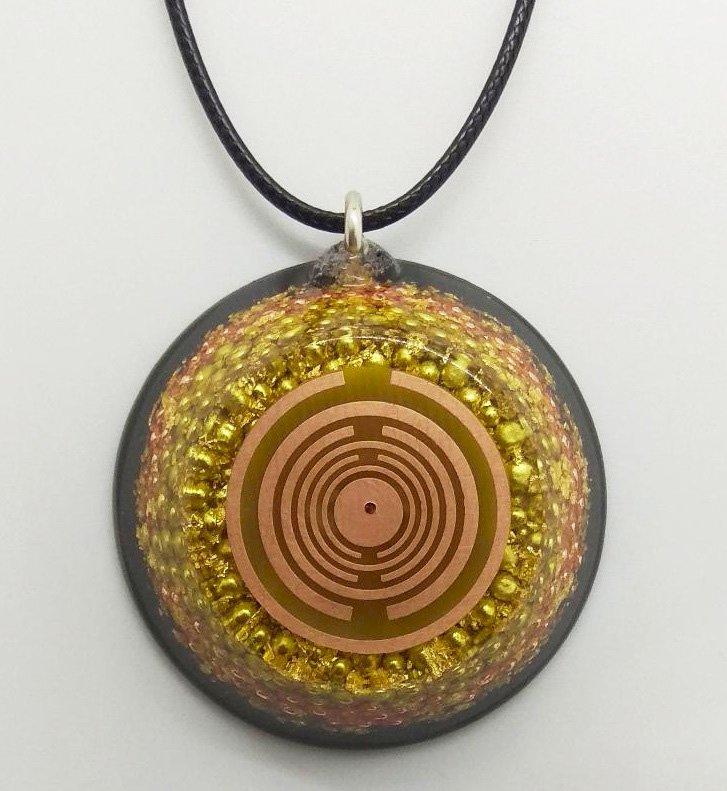 The Golden Dragon Orgone Pendant