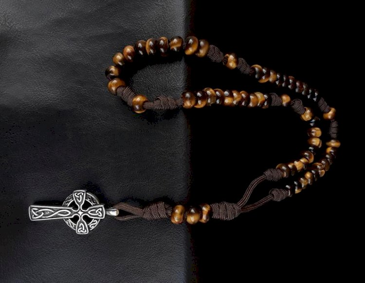 Desert Tiger Military 550 Paracord 5 Decade Rosary