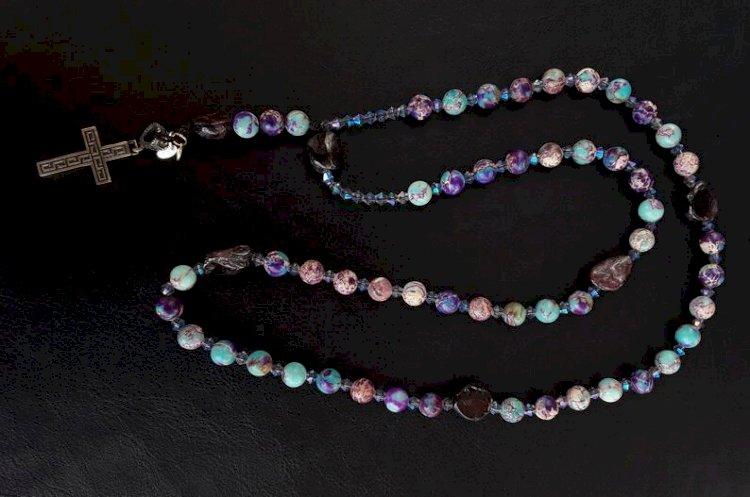 The Imperial Silver Swarovski Rosary