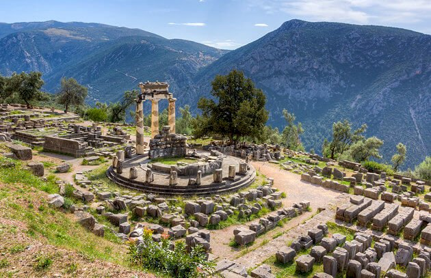GREECE: MAJOR ARCHAEOLOGICAL SITES AND TEMPLES