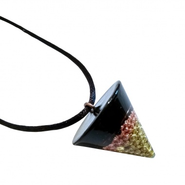 Orgone Pendulum Pendant - The other side