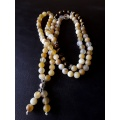 Buddha's White Lotus - the 108 Mala Prayer Necklace