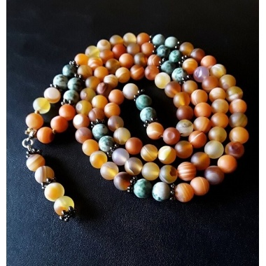 Buddha's Divination - 108 Mala Beads Prayer Necklace