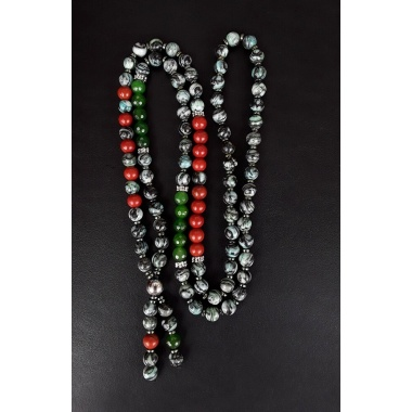 Buddha's Aura - 108 Mala Beads Tassel Necklace