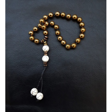 The golden 27 prayer beads Tassel bracelet