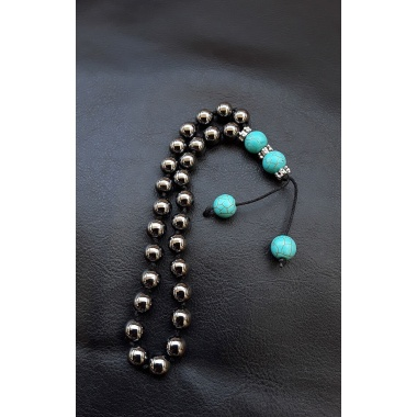 The silver 27 prayer beads Tassel bracelet