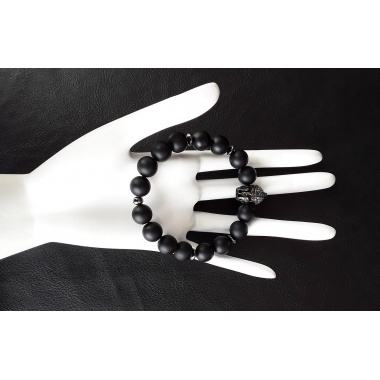 Spartan Black Charm Bracelet - Dark Warrior