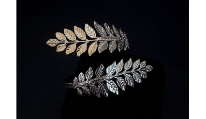 Daphne\'s Laurel Leaf Bracelet (Gold Version)