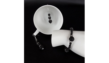 Athena's Silver version of the Volcanic Lave Stone Jewelry Set
