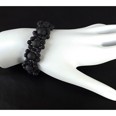 Hades Dark Flower - Energy Infused Choker and Bracelet Jewelry Set