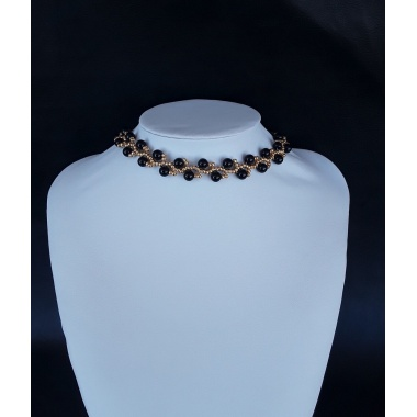 The Golden Dawn Sun Bracelet and Choker Jewelry Set