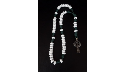 Enlightenment 550 Paracord Howlite Rosary with its Celtic design