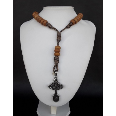 The 550 Paracord Catholic Hail Mary Rosary made of pure natural wood.