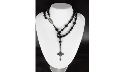 The Dark 5 Decade Catholic Rosary of Our Lady of Guadalupe