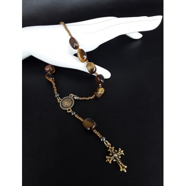 Golden Virgin Mary One Decade Catholic Rosary