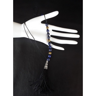 8 mm Lapis Lazuli and Hematite Beads