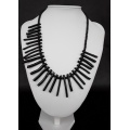 The Zulu Necklace made of Black Coral and 925 pure Silver