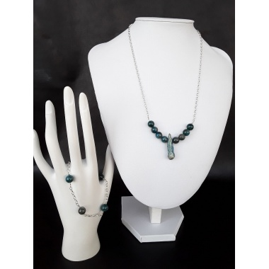 The Gaia Necklace and Bracelet Jewelry Set