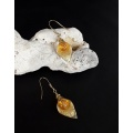The Citrine Leaf Earrings Jewelry Set