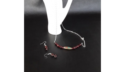 The Tibetan Necklace and Earring Jewelry Set