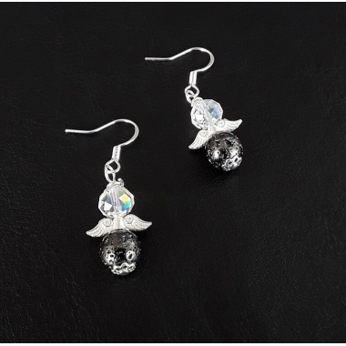 The Crystal Black unique Earrings