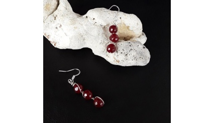The Silver Agate Healing Stone Earrings