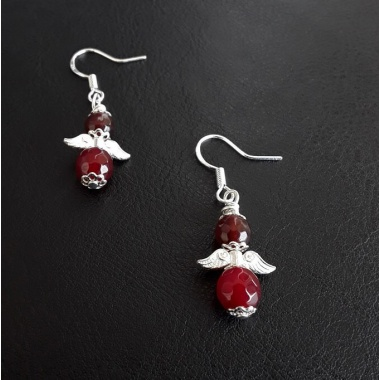 The Agate Angelic Wings Earrings