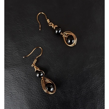 The Black Onyx Healing Stone Earrings Set