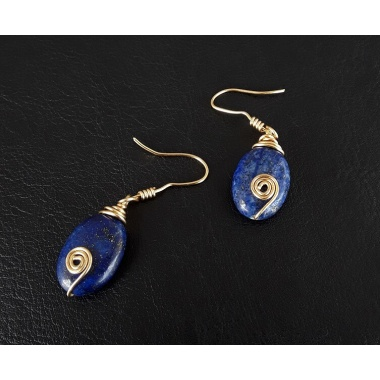 The Lapis Lazuli Healing Stone Earrings Set