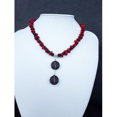 The Black Stone Charm Necklace