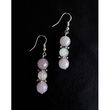 The Rose Quartz Healing Stone Earrings