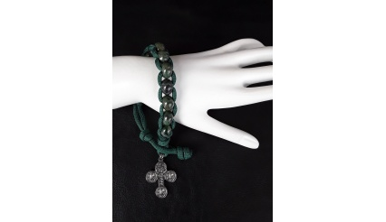 Forest Spirit Military 550 Paracord Wrist Rosary