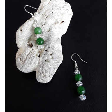 The Emerald Healing Stone Earrings