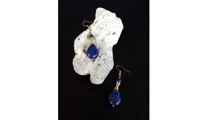 The Lapis Lazuli Healing Stone Earrings (Ver 2)