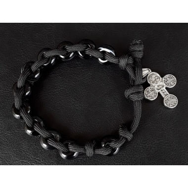 Trough Darkness Military 550 Paracord Wrist Rosary