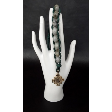 The Labradorite Military 550 Paracord Wrist Rosary