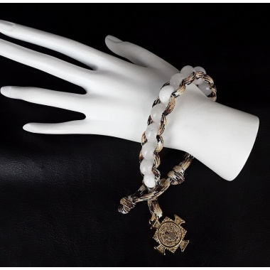 White Wings Military 550 Paracord Wrist Rosary