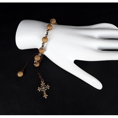 The Golden Cross One Decade Wrist Rosary