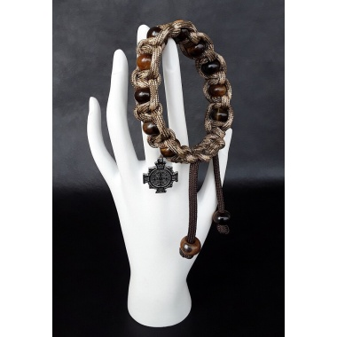 The Tigers Military 550 Paracord Wrist Rosary
