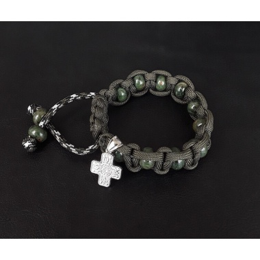 Marine Corps Military 550 Paracord Wrist Rosary