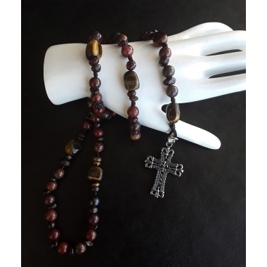 The Tigers Garnet elite 5 Decade Catholic Rosary