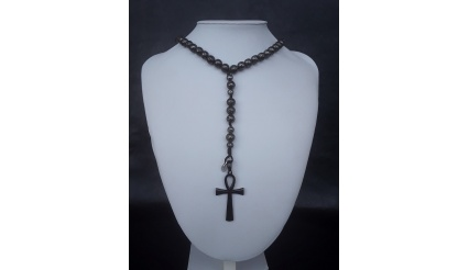 The galvanized Ankh 5 Decade Catholic Rosary