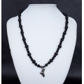 The Devils Eye Silver Volcanic Bat Necklace