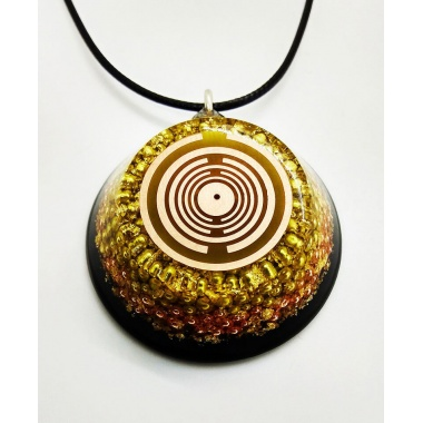 Orgone Pendant - Golden Dragon Version 2
