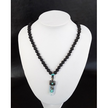 The Opalite Volcanic Lava Onyx Necklace