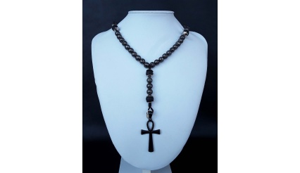 The galvanized Ankh 5 Decade Catholic Rosary (ver. 3)