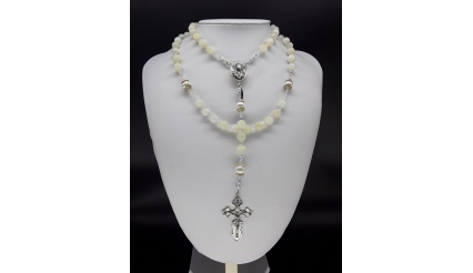 The Pearl Moonstone 5 Decade Catholic Rosary