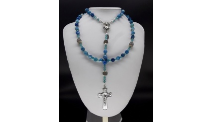 The Blue Pearl 5 Decade Catholic Rosary
