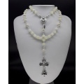 The Pearl Moonstone 5 Decade Catholic Rosary (alt ver)