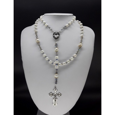 The Pearl Moonstone 5 Decade Catholic Rosary (alt ver 2)